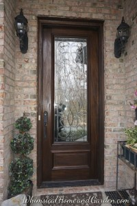 Leaded & Beveled Glass Front Entry Door
