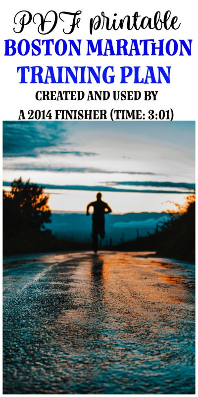 Boston Marathon Training Plan: I ran the infamous Boston Marathon in 2014, and crossing that finish line was a dream come true. I also qualified to run it the following year as well. Here's a PDF copy of my training plan that I followed religiously.