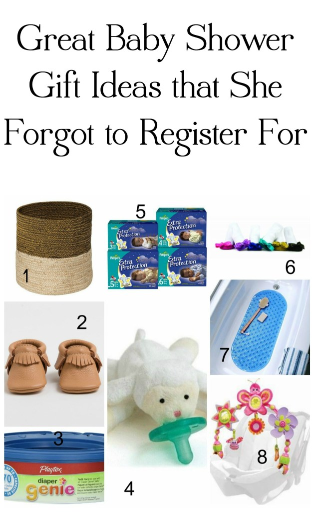 Great Baby Shower Gift Ideas that She Forgot to Register For