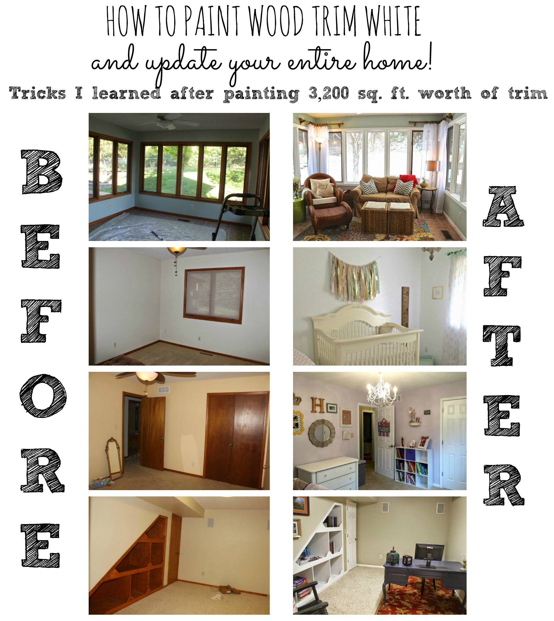 How To Paint Trim White My Method For Painting My Whole Home Myself
