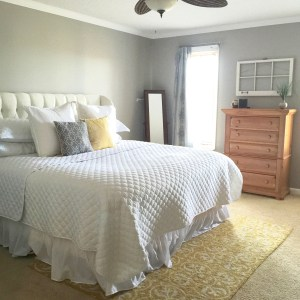 New Master Bedroom Wingback Headboard