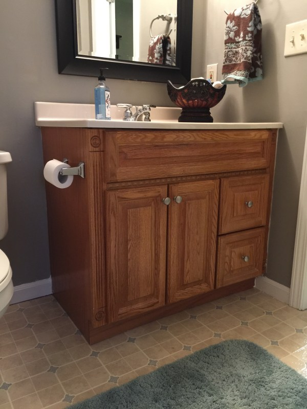 Superb Painting Oak Bathroom Vanity With Annie Sloan Chalk Paint Download Free Architecture Designs Intelgarnamadebymaigaardcom