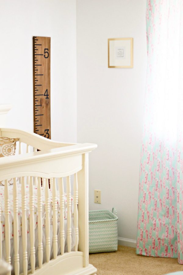Baby girl nursery Inspiration   Mint, Pink, and Gold   All sources are linked! Click here to find out how to put together a beautiful, feminine, achievable mint, pink, and gold nursery!   Whimsical September
