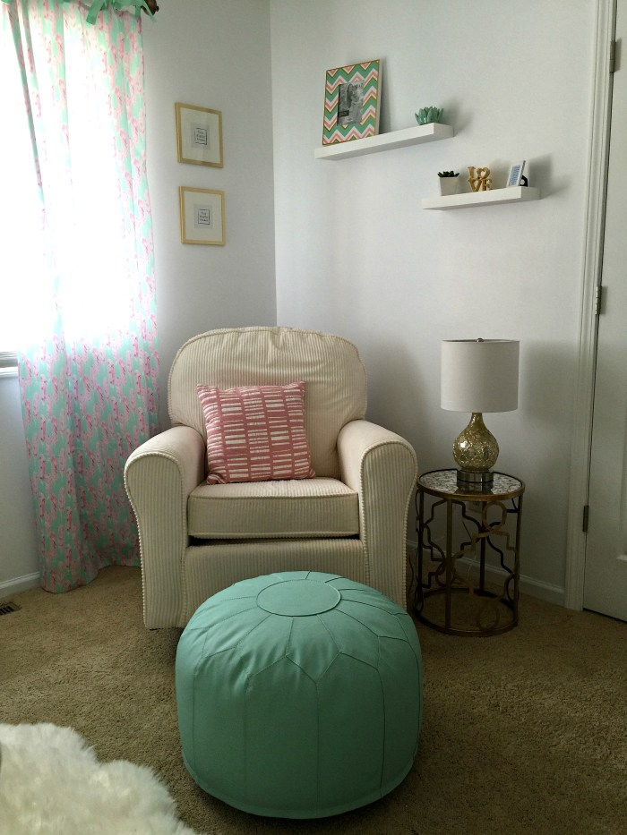 Mint Pink and Gold Nursery2