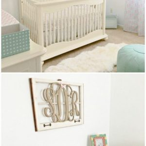 Home Tour: Sadie's Mint, Pink and Gold Nursery