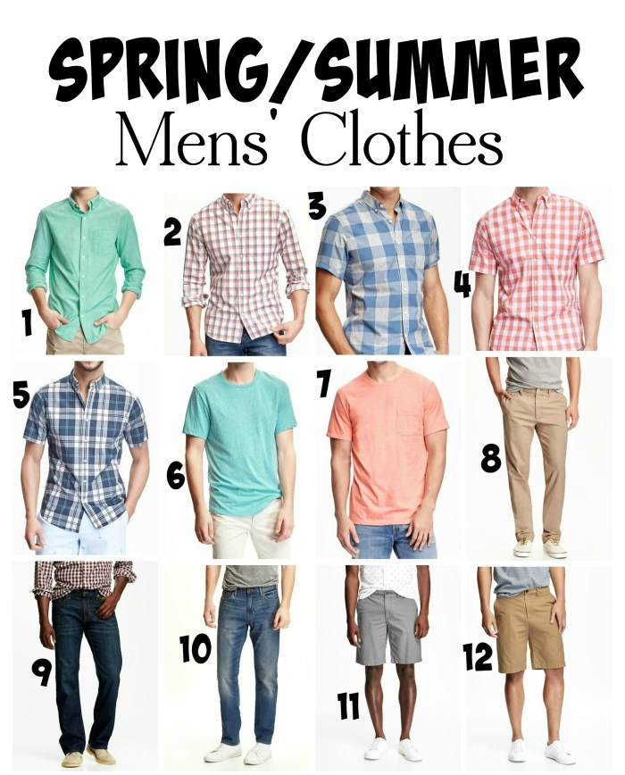 Spring and Summer Mens Clothes from Old Navy