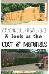Exterior Home Improvement: Staining Our Fence