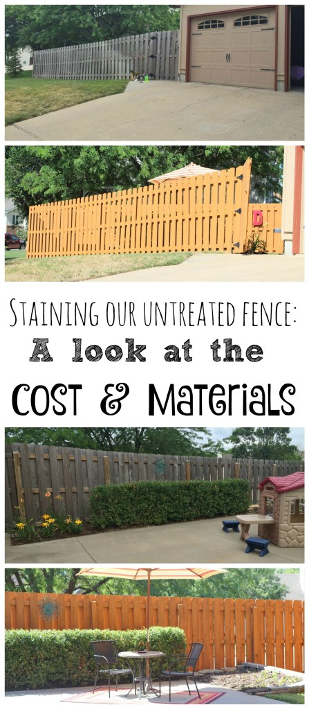 Staining our untreated fence didn't cost a lot, but it sure did make a huge impact on the home's curb appeal. Take a look at how much this small project cost and what materials were necessary.