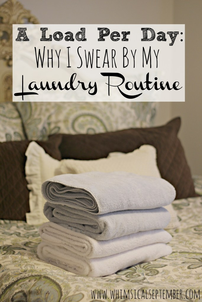 This mama details exactly how she manages to mindlessly complete one load of laundry per day, and how it has freed up her family's chore list tremendously!