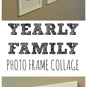 Hallway Decor: Our Growing Family Photo Collage