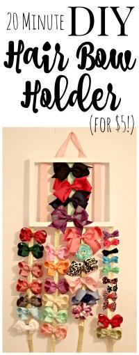 DIY Hair Bow Holder for $5