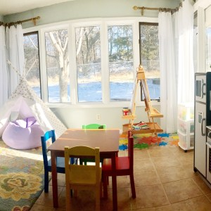 Turning our Sunroom into a Playroom