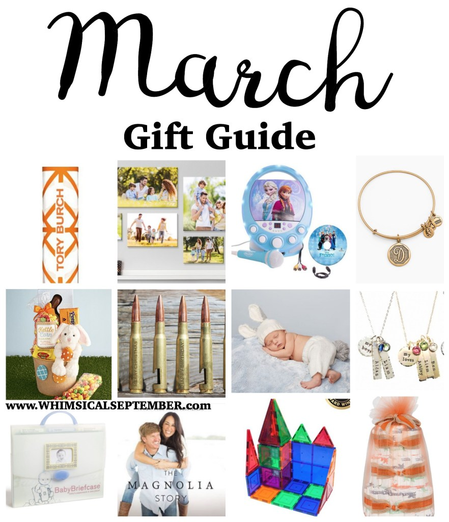 "March gift guide: A round-up of 15 gifts all under $40 from all over the internet. From your friend's new baby to your grandmother, you're sure to find something to put a checkmark in your ""shopping for"" box!"