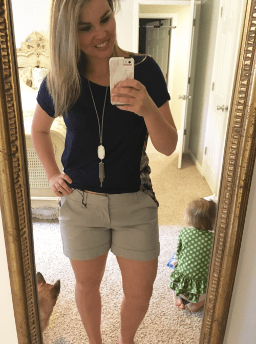 Whimsical September Stitch Fix Review April 2017: Dear John Finnegan Cuff Shorts