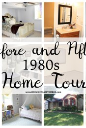 """""""Before and After"""" 1980s Home Tour – Updated June 2017"""