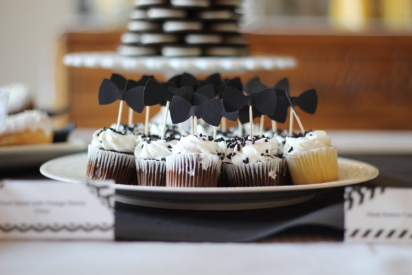 "A Black and White ""Little Man"" Themed Brunch Baby Shower:We had so much fun throwing this Little Man baby shower for the sweetest friend. This blog post shares food ideas, decor, and much more. Enjoy!"