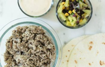 How to Make Time to Cook Dinner + Shredded Pork Pineapple Tacos with Queso