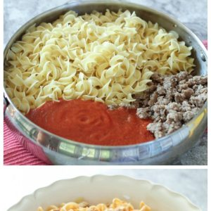 Noodles with Creamy Marinara and Sausage Recipe