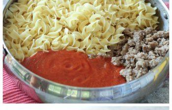 Noodles with Creamy Marinara and Sausage Recipe
