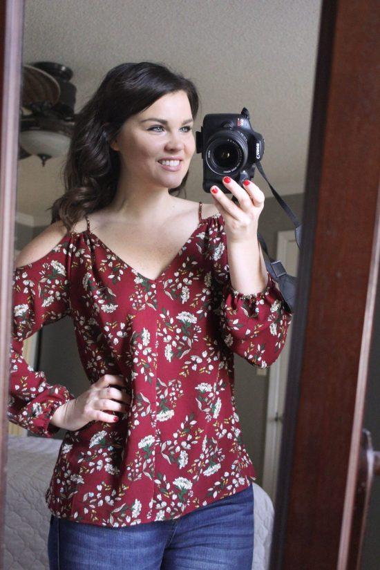 Stitch Fix: Crescent Bariel Cold Shoulder Blouse | Whimsical September