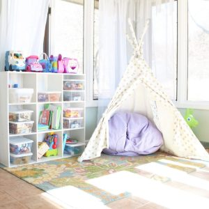 Toy Organization and a Simplified Playroom
