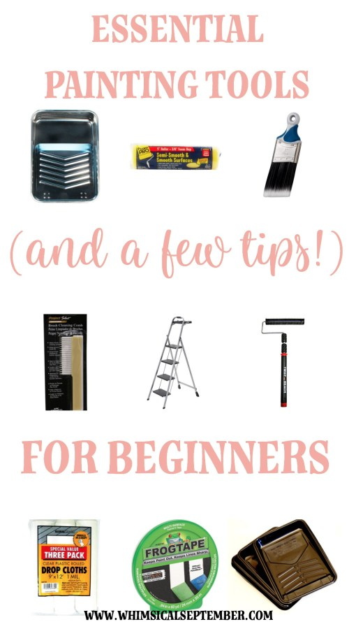 Painting tools for beginners: Here are recommended brushes, cleaning tools, rollers, and more to get you started on quickly and efficiently painting the interior walls of your home. There's also a few handy tricks too. Click here to read more about how to teach yourself to transform your home via interior wall painting.
