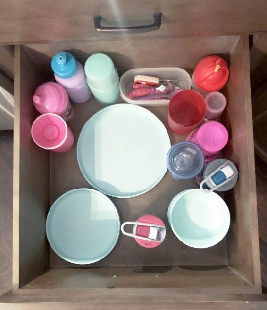 Organizing dinnerware and spices in drawers: When we moved into our home, we searched for all of the most practical, functional ways to organize our kitchen. We utilized our drawers in two new ways, and these methods have drastically improved the way we use our kitchen! Click here to read more.