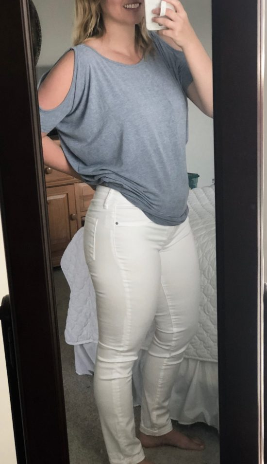 Articles of Society White Cuffed Skinny Jean, Stitch Fix