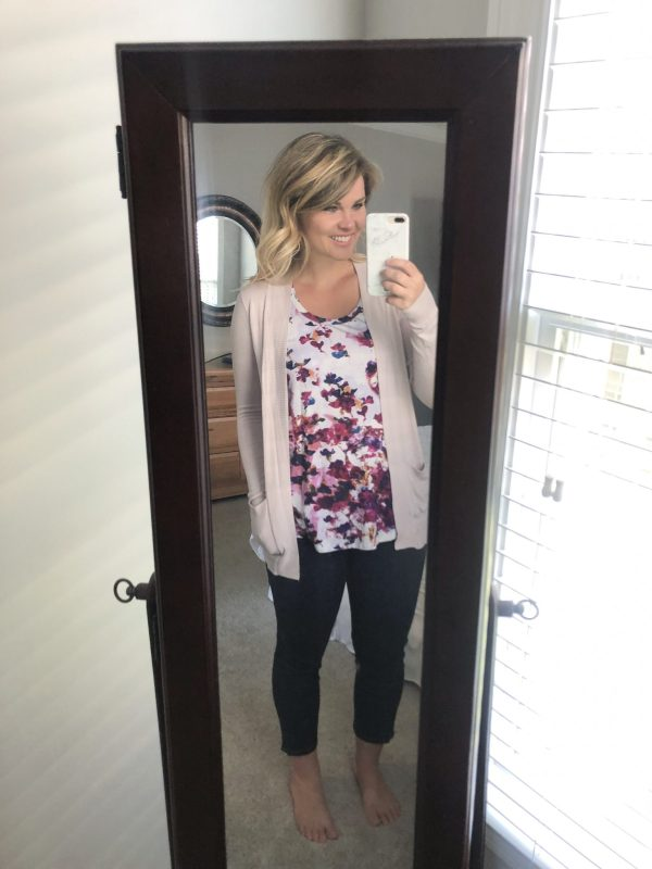 STITCH FIX REVIEW: PINK CLOVERMarabell Open Cardigan   WHIMSICAL SEPTEMBER   Schedule a fix and request this top here!