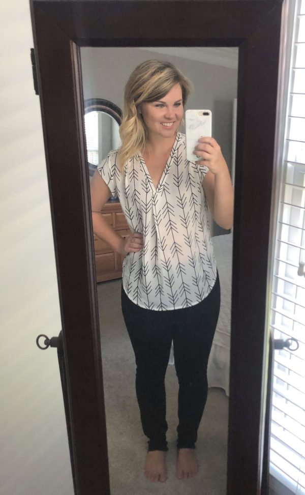 STITCH FIX REVIEW: FUN2FUN Lillian V-Neck Blouse | WHIMSICAL SEPTEMBER | Schedule a fix and request this top here!