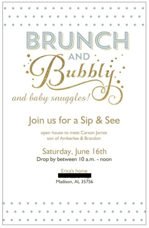 How to host a sip and see: This new spin on a traditional baby shower is perfect for a multitude of situations, especially if the mom isn't having her first baby. This post details a sample menu for the sip and see, a few tips on etiquette, invitation suggestions, and more. Click here to read more about several tips for host to host a Sip and See!
