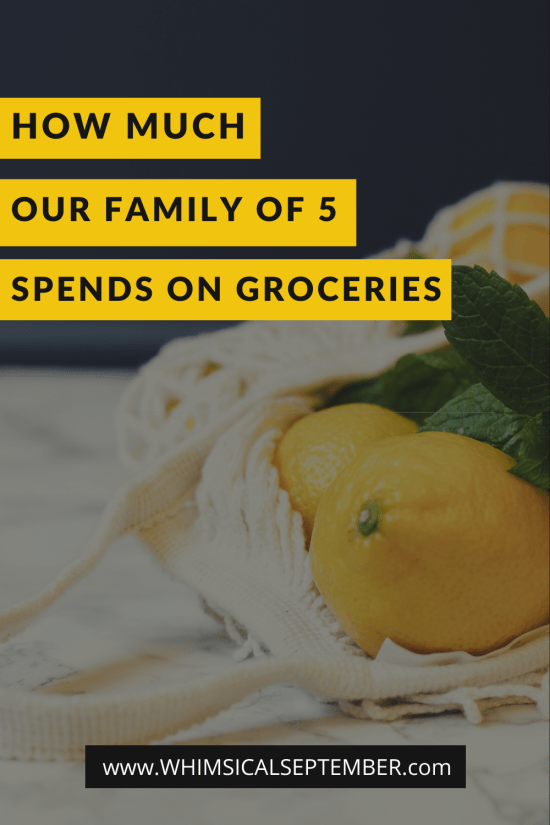 "In this post I break down our grocery budget for our family of five (*ahem* what we actually spend on groceries) and what we actually buy that is included in that budget. I share exactly what we spent in the month of January throughout various grocery trips as well as what we spent on dining out. I hope this post makes you feel a little bit more ""normal"" about what your family realistically spends as well. More on WhimsicalSeptember.com"