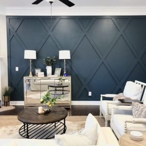 Creating A Diamond Accent Wall