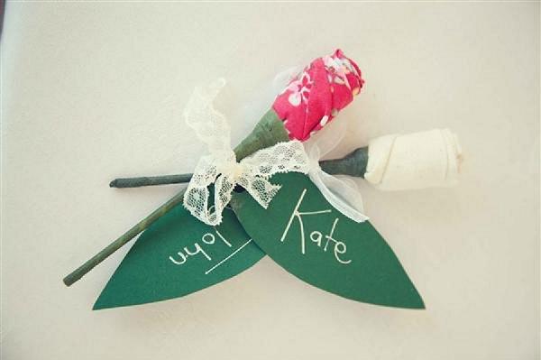 fabric flower wedding favours