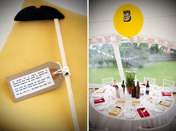 moustach wedding favour