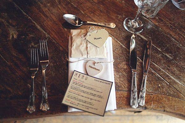 wooden name wedding favour