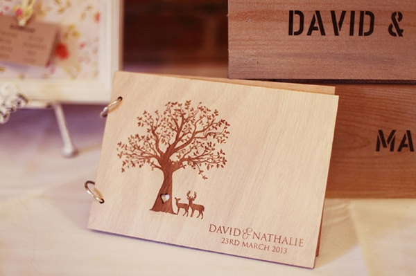 wooden wedding guest book http://www.rebeccaweddingphotography.co.uk/