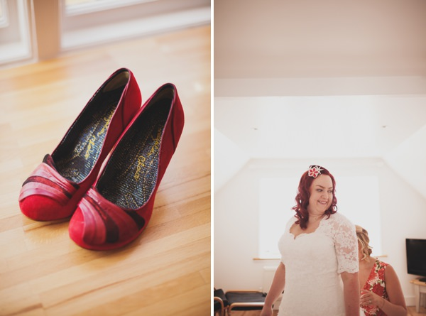 red wedding shoes http://www.paulfullerkentphotography.com/