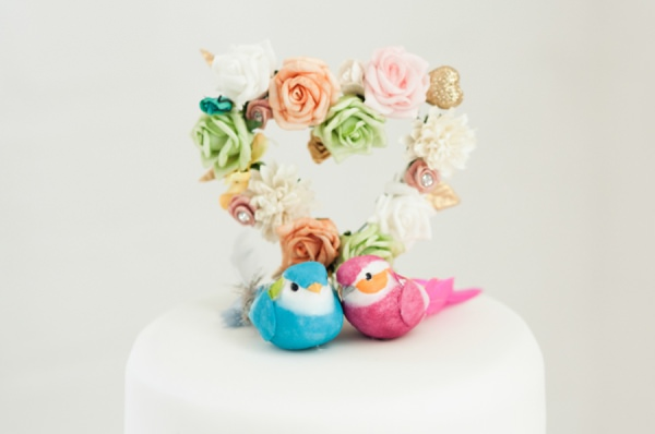 kitsch wedding cake topper http://www.georgimabee.com/