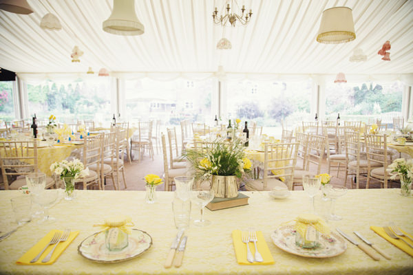 Bright Tea Party Yellow Wedding Whimsical Wonderland