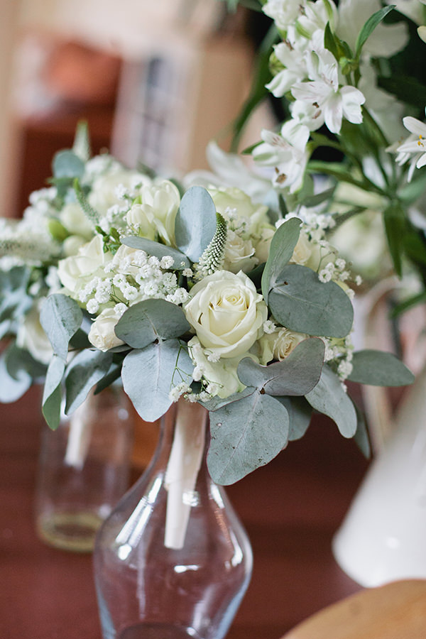 Happy Country Back Garden Wedding White Green Bouquet http://www.samanthawardphotography.co.uk/
