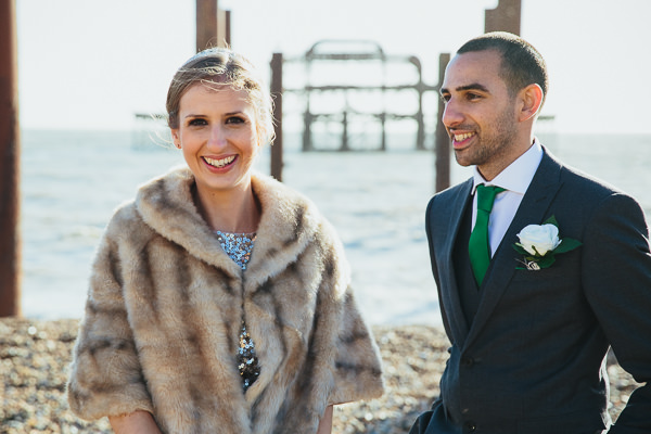 Brighton Sea Front Sequin Glitter Wedding http://www.redonblonde.com/
