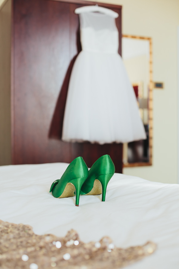 Brighton Sea Front Sequin Glitter Wedding Green Glitter Gold Shoes http://www.redonblonde.com/