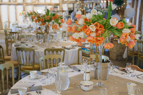 Coral & Green Rustic Wedding Tulip Flowers http://www.riamishaal.com/