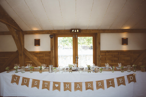 Rustic Cotswolds Barn Wedding Top Table Sign http://jenmarino.com/