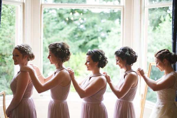 Plaited Hair Bridesmaids Style Pretty Pastel Romantic DIY Wedding http://www.milkbottlephotography.co.uk/