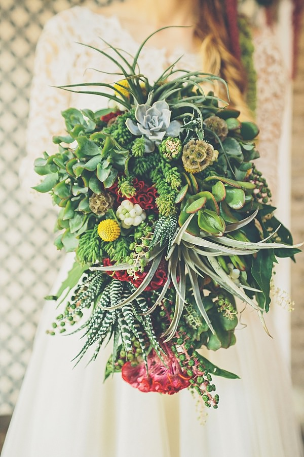 Green Pink Green Succulent Bridal Bouquet Moroccan Nights Wedding Ideas http://www.jessicawitheyphotography.com/