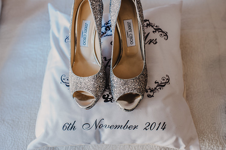Silver Glitter Jimmy Choo Shoes Heels Bride Bridal Glamorous Gatsby 1920s Speakeasy Winter Wedding http://www.jmcsweeneyphotography.co.uk/
