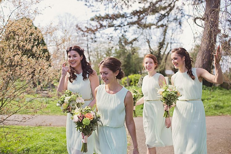 Mint Green Bridesmaid Dresses Short Home Made Countryside Spring Wedding Sequin Gold Dress Oxford http://www.cottoncandyweddings.co.uk/