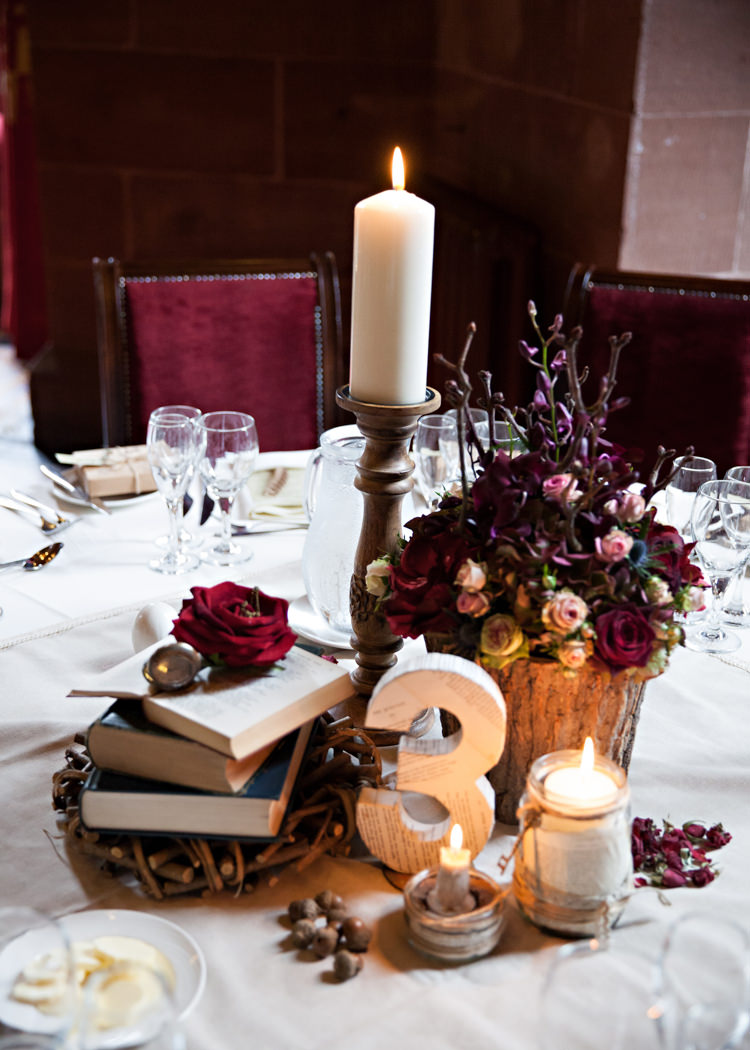 Dramatic Amp Rich Rustic Harry Potter Inspired Wedding